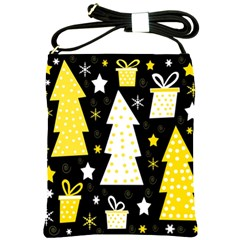 Yellow playful Xmas Shoulder Sling Bags