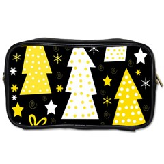 Yellow playful Xmas Toiletries Bags