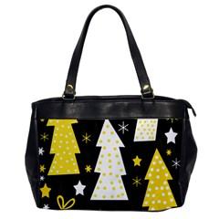 Yellow playful Xmas Office Handbags