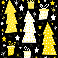 Yellow playful Xmas Magic Photo Cubes