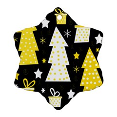 Yellow playful Xmas Snowflake Ornament (2-Side)