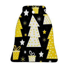 Yellow playful Xmas Bell Ornament (2 Sides)