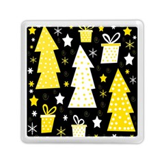 Yellow playful Xmas Memory Card Reader (Square)