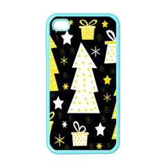 Yellow playful Xmas Apple iPhone 4 Case (Color)
