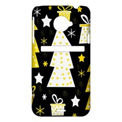 Yellow playful Xmas HTC Evo 4G LTE Hardshell Case
