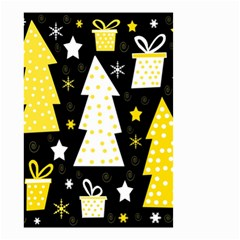 Yellow playful Xmas Small Garden Flag (Two Sides)