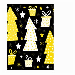 Yellow playful Xmas Large Garden Flag (Two Sides)