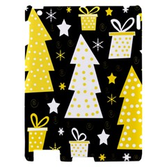 Yellow playful Xmas Apple iPad 2 Hardshell Case