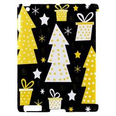 Yellow playful Xmas Apple iPad 2 Hardshell Case (Compatible with Smart Cover)