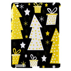 Yellow playful Xmas Apple iPad 3/4 Hardshell Case (Compatible with Smart Cover)