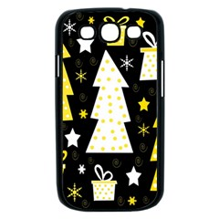 Yellow playful Xmas Samsung Galaxy S III Case (Black)