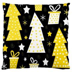 Yellow playful Xmas Large Cushion Case (Two Sides)