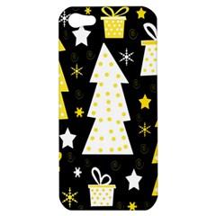 Yellow playful Xmas Apple iPhone 5 Hardshell Case