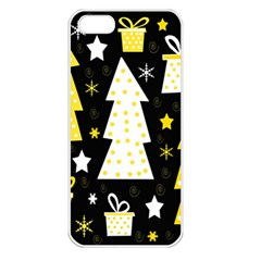Yellow playful Xmas Apple iPhone 5 Seamless Case (White)