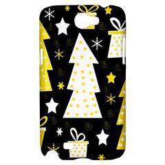 Yellow playful Xmas Samsung Galaxy Note 2 Hardshell Case