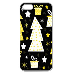 Yellow playful Xmas Apple Seamless iPhone 5 Case (Clear)