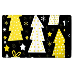 Yellow playful Xmas Apple iPad 3/4 Flip Case