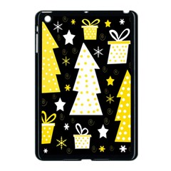 Yellow playful Xmas Apple iPad Mini Case (Black)