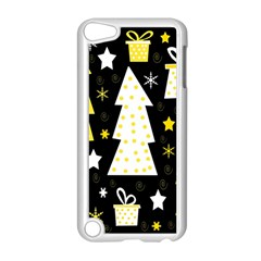 Yellow playful Xmas Apple iPod Touch 5 Case (White)