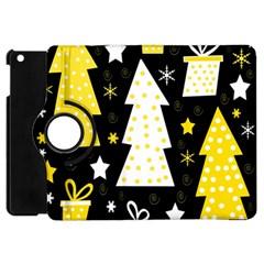 Yellow playful Xmas Apple iPad Mini Flip 360 Case