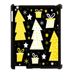 Yellow playful Xmas Apple iPad 3/4 Case (Black)