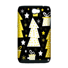 Yellow playful Xmas Samsung Galaxy Note 2 Hardshell Case (PC+Silicone)