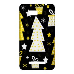 Yellow playful Xmas HTC One SU T528W Hardshell Case