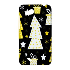 Yellow playful Xmas HTC Desire VC (T328D) Hardshell Case