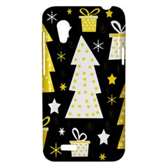 Yellow playful Xmas HTC Desire VT (T328T) Hardshell Case