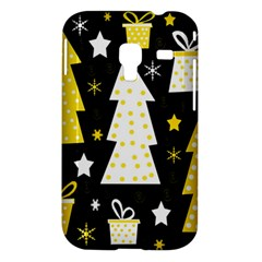 Yellow playful Xmas Samsung Galaxy Ace Plus S7500 Hardshell Case