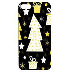 Yellow playful Xmas Apple iPhone 5 Hardshell Case with Stand