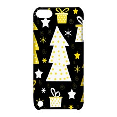 Yellow playful Xmas Apple iPod Touch 5 Hardshell Case with Stand