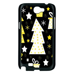 Yellow playful Xmas Samsung Galaxy Note 2 Case (Black)
