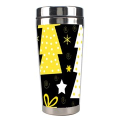 Yellow playful Xmas Stainless Steel Travel Tumblers