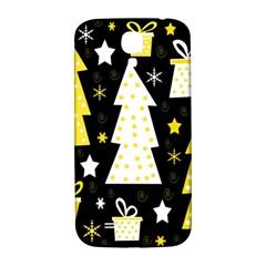 Yellow playful Xmas Samsung Galaxy S4 I9500/I9505  Hardshell Back Case