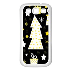 Yellow playful Xmas Samsung Galaxy S3 Back Case (White)
