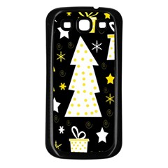 Yellow playful Xmas Samsung Galaxy S3 Back Case (Black)