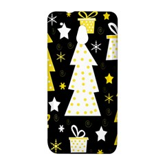 Yellow playful Xmas HTC One Mini (601e) M4 Hardshell Case