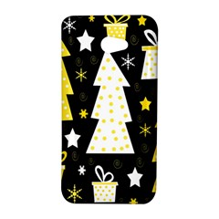 Yellow playful Xmas HTC Butterfly S/HTC 9060 Hardshell Case