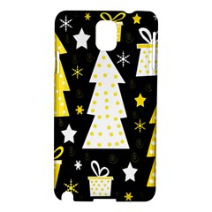 Yellow playful Xmas Samsung Galaxy Note 3 N9005 Hardshell Case