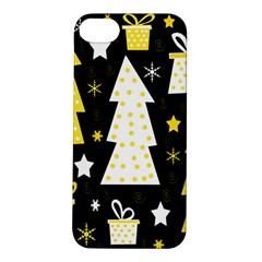 Yellow playful Xmas Apple iPhone 5S/ SE Hardshell Case