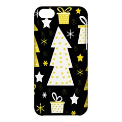 Yellow playful Xmas Apple iPhone 5C Hardshell Case