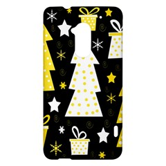Yellow playful Xmas HTC One Max (T6) Hardshell Case