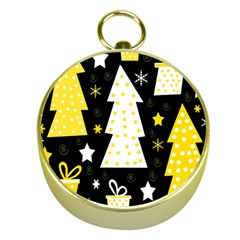 Yellow playful Xmas Gold Compasses