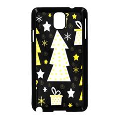 Yellow playful Xmas Samsung Galaxy Note 3 Neo Hardshell Case (Black)