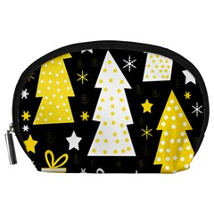 Yellow playful Xmas Accessory Pouches (Large)