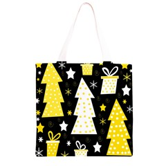 Yellow playful Xmas Grocery Light Tote Bag