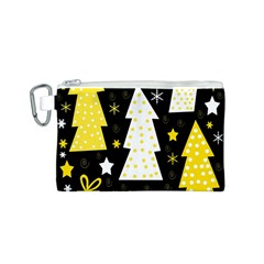 Yellow playful Xmas Canvas Cosmetic Bag (S)