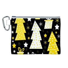 Yellow playful Xmas Canvas Cosmetic Bag (L)