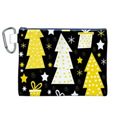 Yellow playful Xmas Canvas Cosmetic Bag (XL)